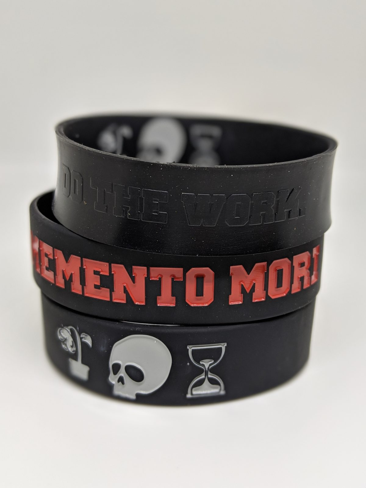 Memento Mori – Do The Work Silicone Bracelet